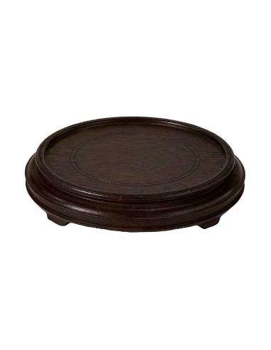 Peana & soporte. Peana redonda ø 10,16cm -madera