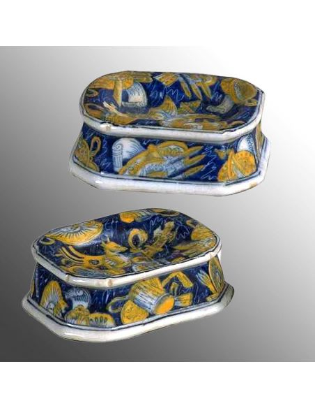 Salero de porcelana. Saleros 8cm set de 2 -Concierto