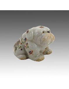 Perro de porcelana. Perro Bulldog sentado 9cm -Milex