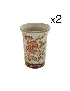 Gobelet en porcelaine: Gobelet 10cm set de 2 -Hiti