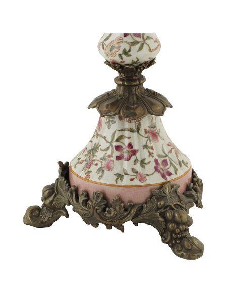 Candélabre en porcelaine: Candélabre haut 5 lumières 60cm a/bronze -Komachi