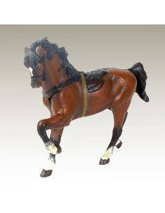 Sculpture en bronze: Cheval de gala peint
