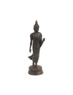 Figura de Bronce. Buda Sukhothai mano al frente 30cm