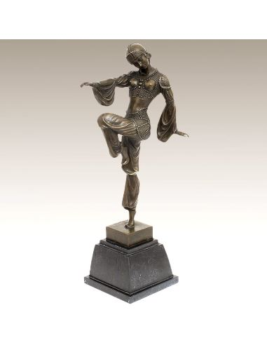 "Figura de Bronce. Mujer Art Decó ""Charm of the Orient"""