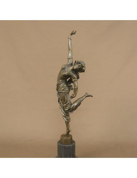 "Figura de Bronce. Mujer Art Decó ""Oriental Dancer"""