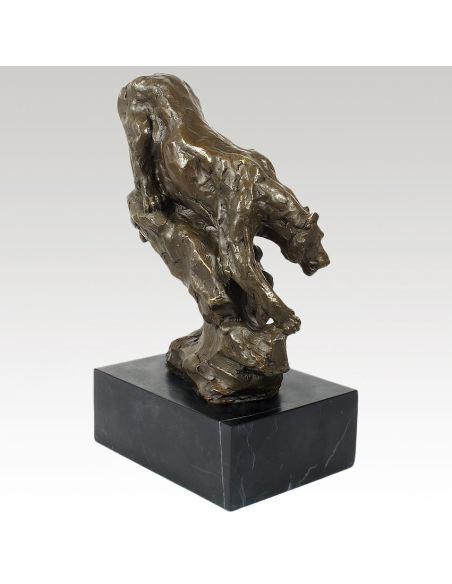 Escultura de Bronce. Pantera al acecho