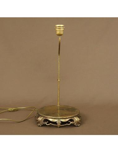Socle en bronze patiné: Socle rond en bronze pied de lampe objet 22x19cm