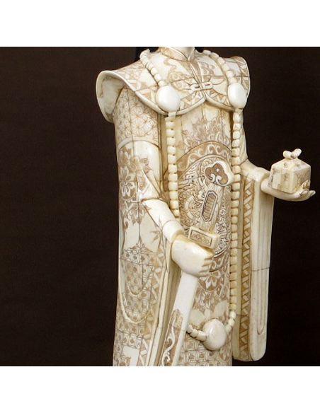 Figura de Hueso. Emperador & Emperatriz de pie 066cm con peana