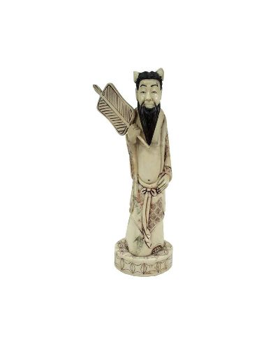 Figura de Hueso Sabio con abanico 19cm