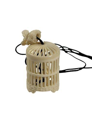 Sculpture sur os: Cage fermeture dragon