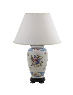 Pied de lampe en porcelaine: Pied de lampe 38cm -Milady