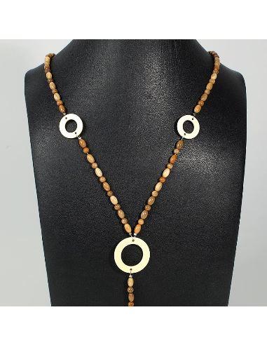 Bijouterie: Collier de 45cm, 95 perles (nc2565)