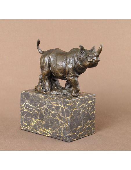 Escultura de Bronce. Rinoceronte