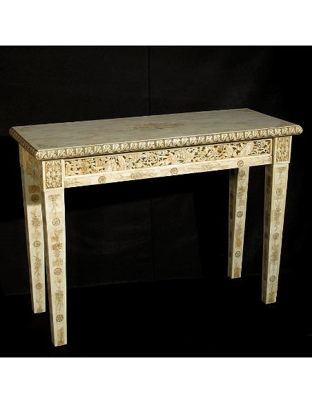 Mueble de Hueso. Consola rectangular 112cm.