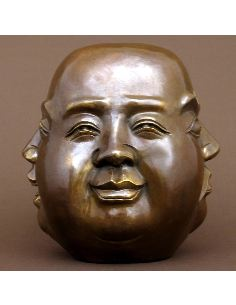 Sculpture en bronze: Bouddha 4 faces de la vie 25cm