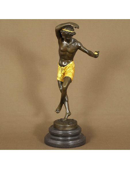 Figura de Bronce Joven danseur Napolitain -Dorado